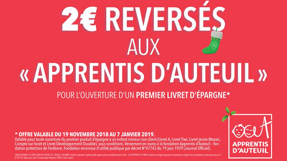 Credit Agricole Anjou Maine Campagne Compte De Noel 2018